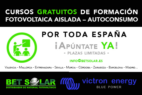 Cursos de formación gratuito de Victron Energy
